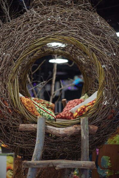 woven egg cubby