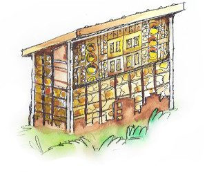 bee hotel sketch