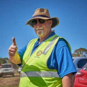 rotary man in high vis