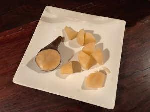 yacon on plate cut