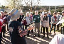 group on garden tour