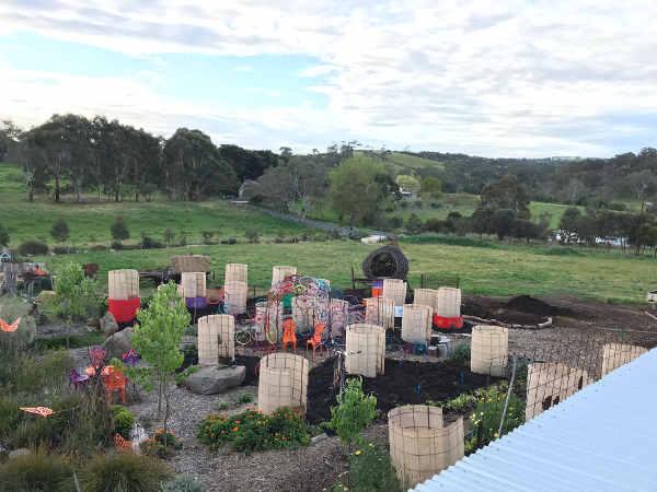 compost on garden