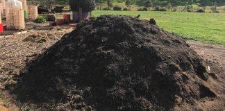 giant compost pile