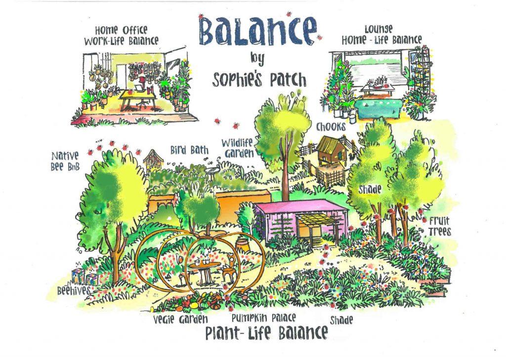 sketch of show garden