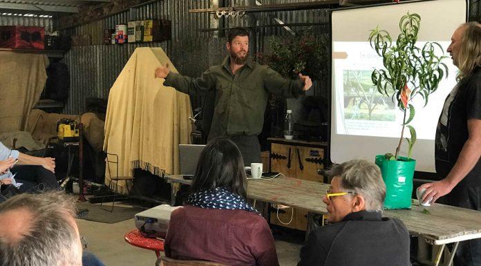 man giving workshop