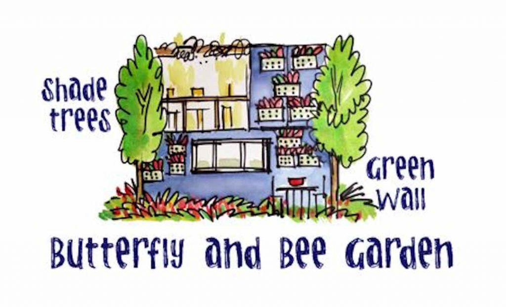 bee garden sketch